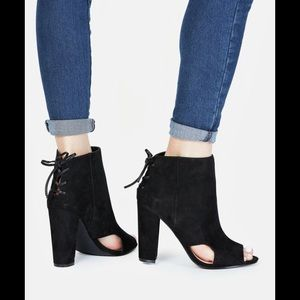 JustFab Ankle Open Toe Booties